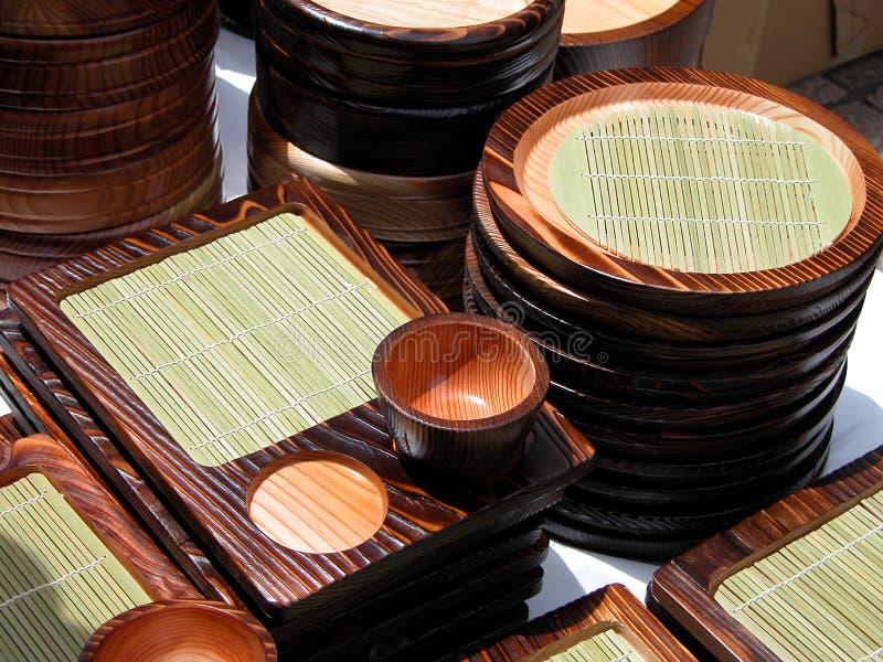 Outils en bois de cuisine image libre de droits