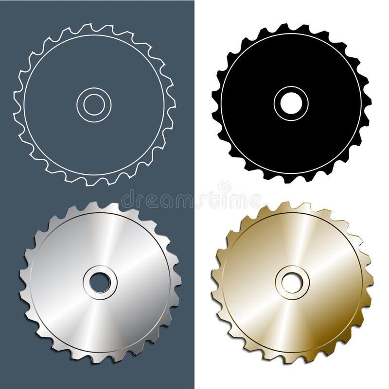 Outils et accessoires L'ensemble de circulaire scie la lame illustration libre de droits