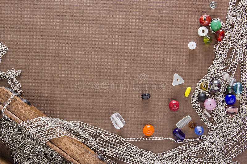 Outils et articles pour des bijoux photo stock