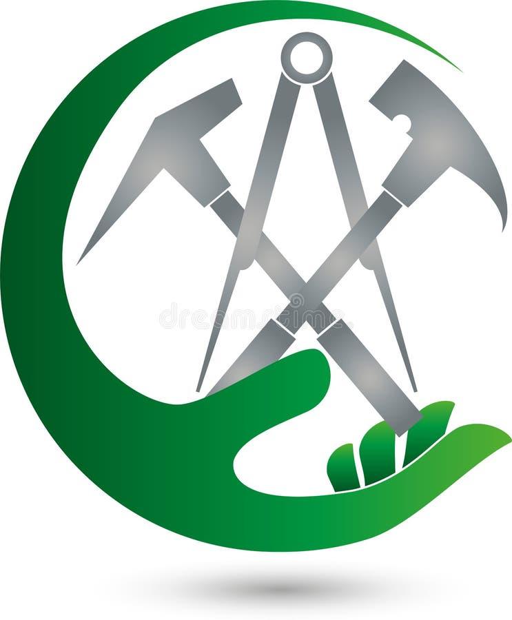 Logo d'outils de bricolage illustration de vecteur. Illustration du graphisme - 56988855