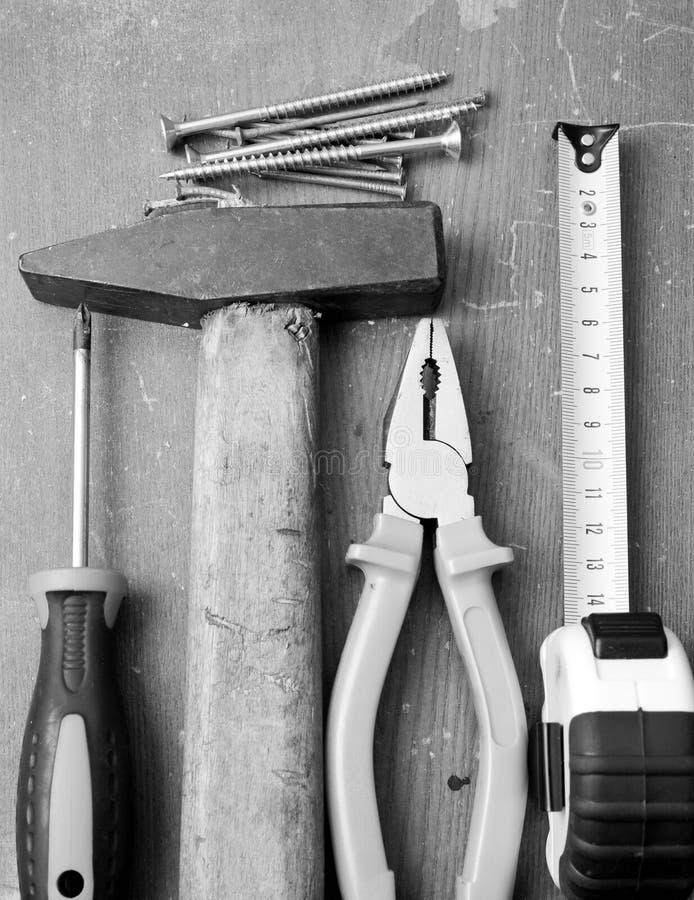 Outils et matériel de DIY image stock