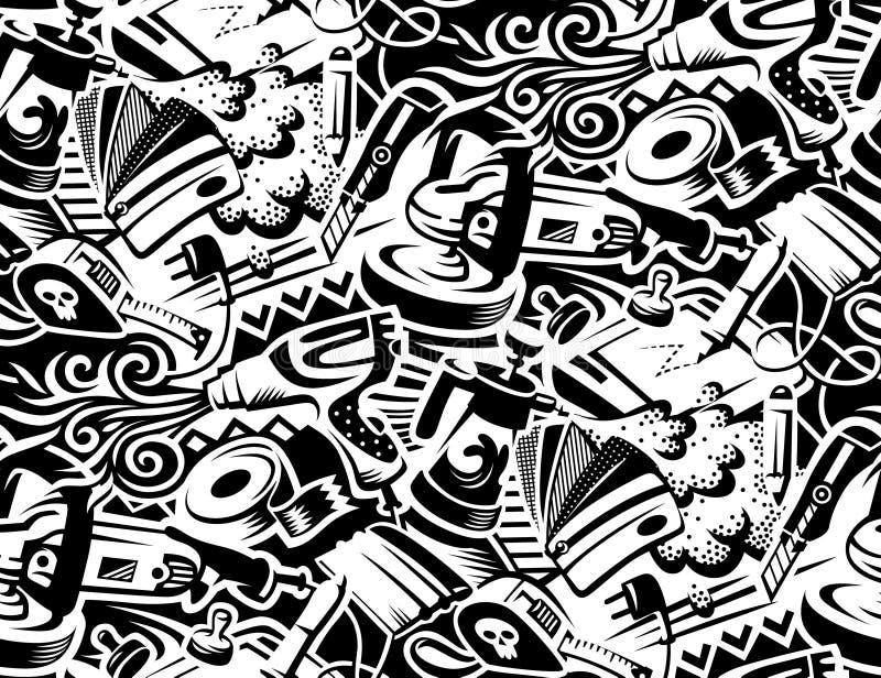Outils pour l'empâtage de vinyle illustration de vecteur