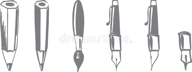Outils pour l'inscription illustration de vecteur