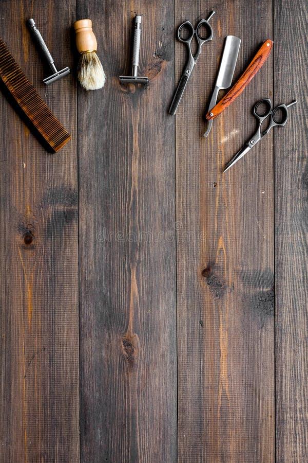 Outils pour la coupe de cheveux et le rasage E images stock
