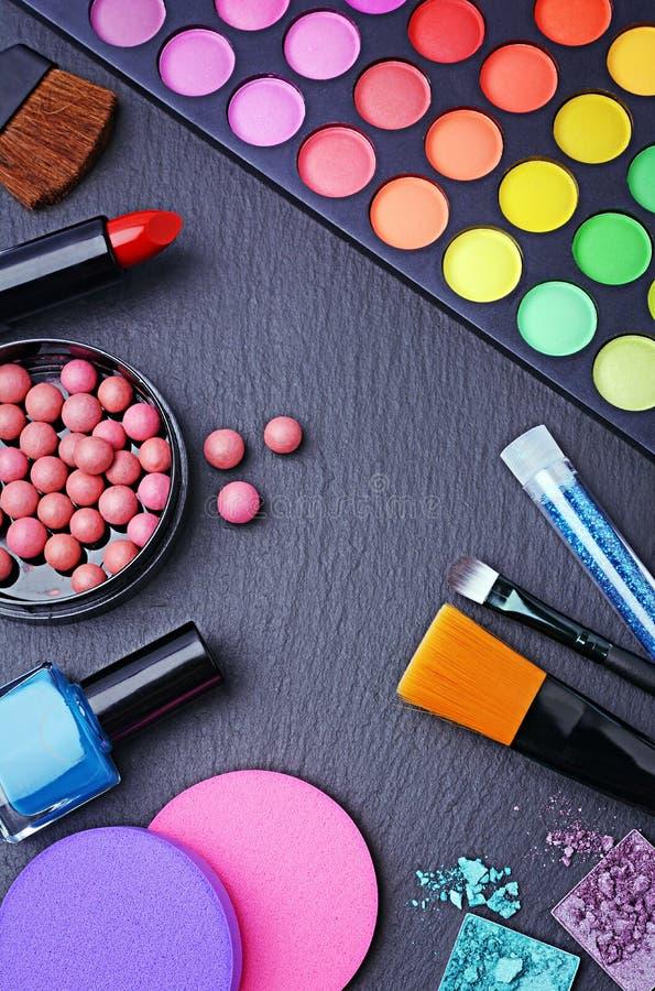 Outils professionnels de maquillage photographie stock libre de droits