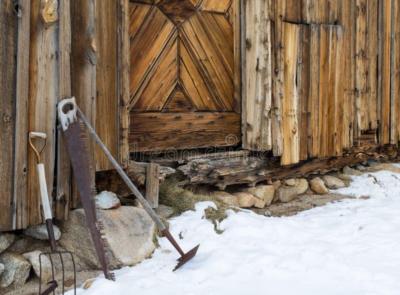 Outils sur le ranch photographie stock