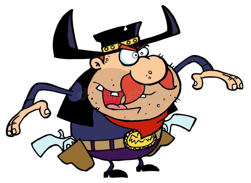 outlaw ковбоя иллюстрация штока