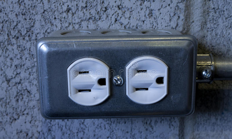 Outlet box stock photo