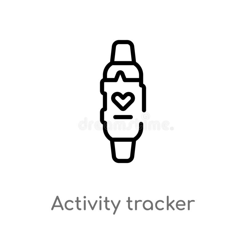 Outline activity tracker vector icon. isolated black simple line element illustration from electronic devices concept. editable. Vector stroke activity tracker vector illustration