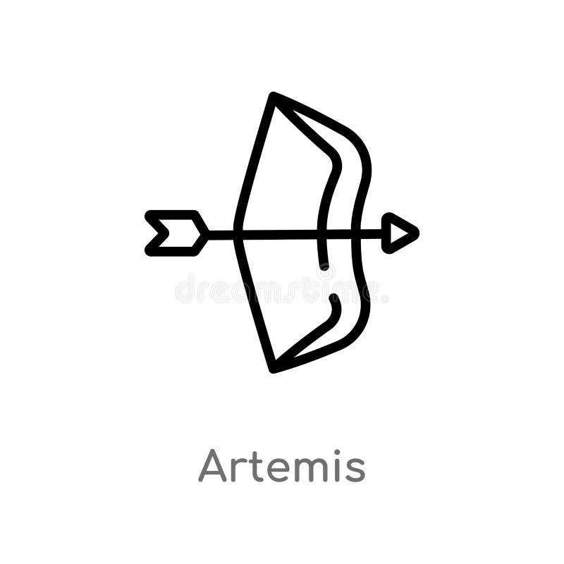 Artemis Icon On White Background Simple Element