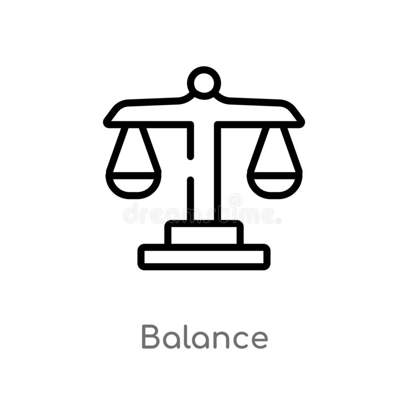 outline balance vector icon. isolated black simple line element illustration from strategy concept. editable vector stroke balance vector illustration