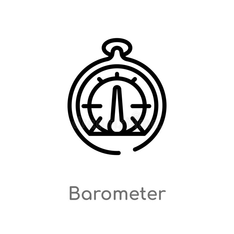 Outline barometer vector icon. isolated black simple line element illustration from nautical concept. editable vector stroke. Barometer icon on white background vector illustration
