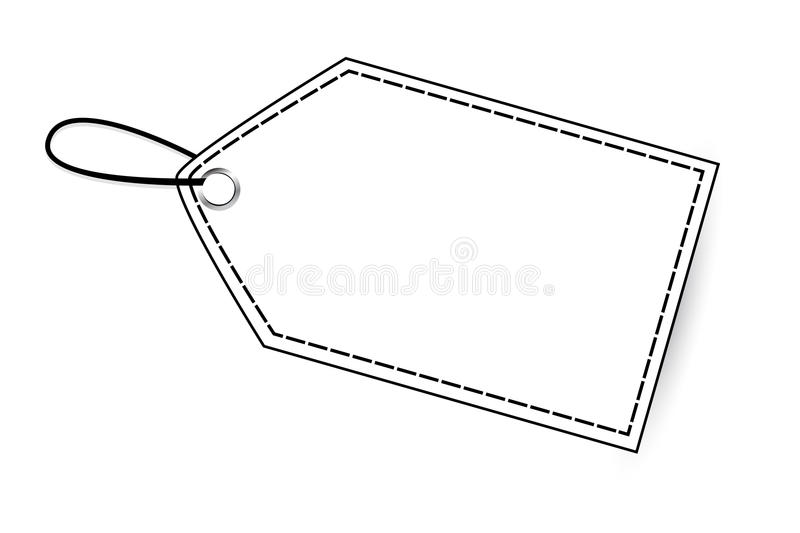 Outline Blank Tag, Isolated On White Stock Vector ...