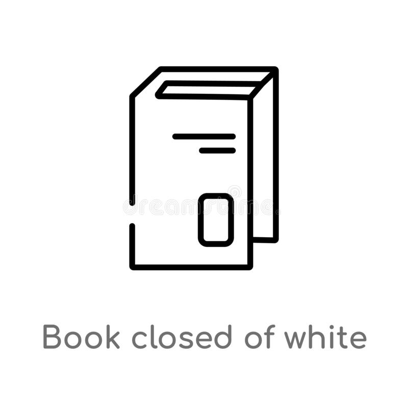 Outline book closed of white cover vector icon. isolated black simple line element illustration from education concept. editable. Vector stroke book closed of royalty free illustration