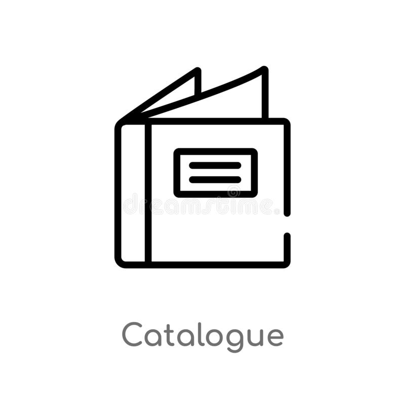 outline catalogue vector icon. isolated black simple line element illustration from fashion and commerce concept. editable vector stock illustration