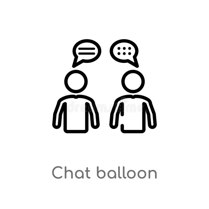 outline chat balloon vector icon. isolated black simple line element illustration from people concept. editable vector stroke chat vector illustration