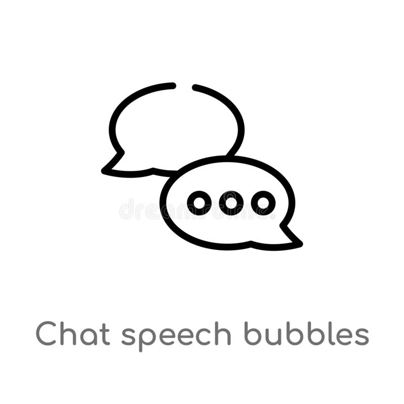 outline chat speech bubbles vector icon. isolated black simple line element illustration from multimedia concept. editable vector vector illustration