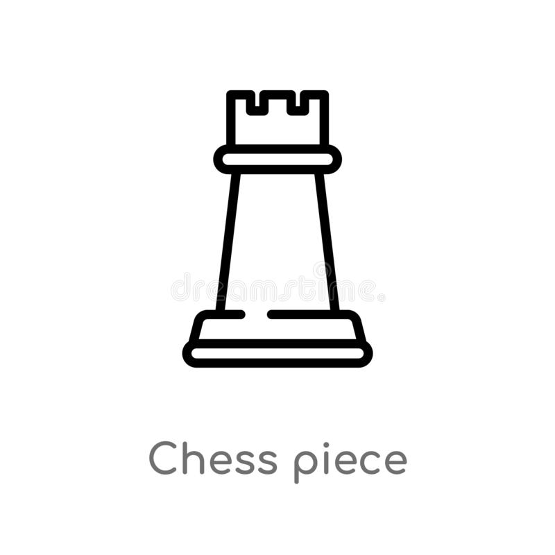 outline chess piece vector icon. isolated black simple line element illustration from entertainment and arcade concept. editable royalty free illustration
