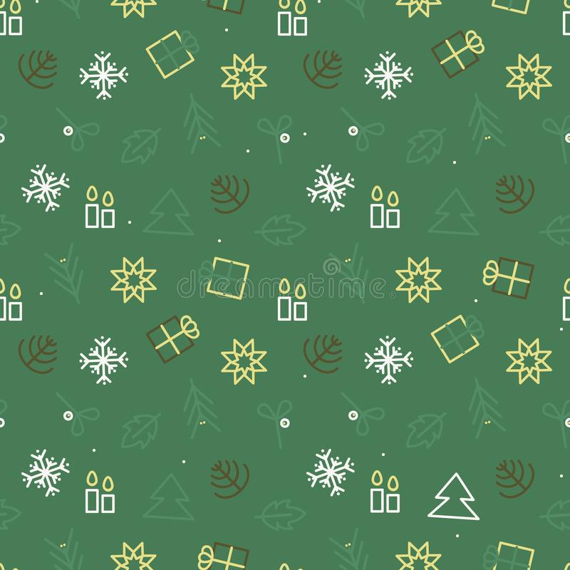 Christmas symbols background royalty free stock photo
