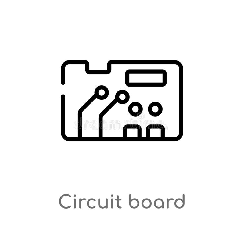 abstract circuit board technology vector background stock vector