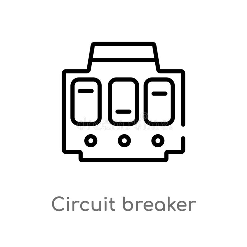 simple electricity circuit vector illustration stock vector