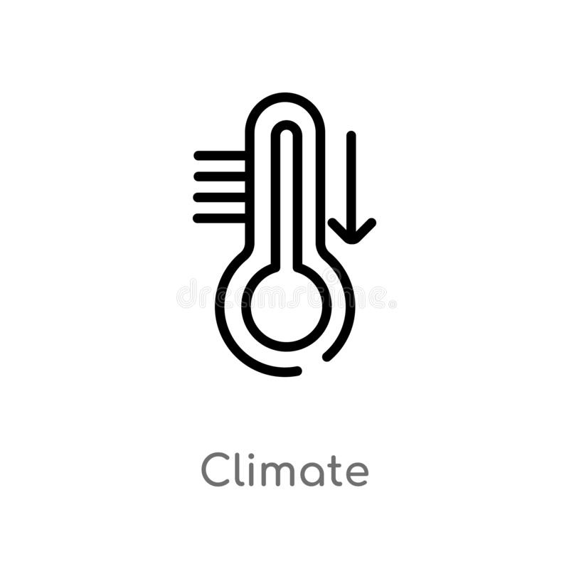 outline climate vector icon. isolated black simple line element illustration from meteorology concept. editable vector stroke vector illustration