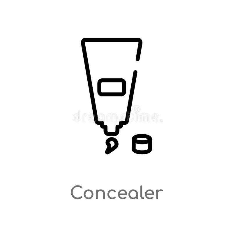 outline concealer vector icon. isolated black simple line element illustration from beauty concept. editable vector stroke stock illustration