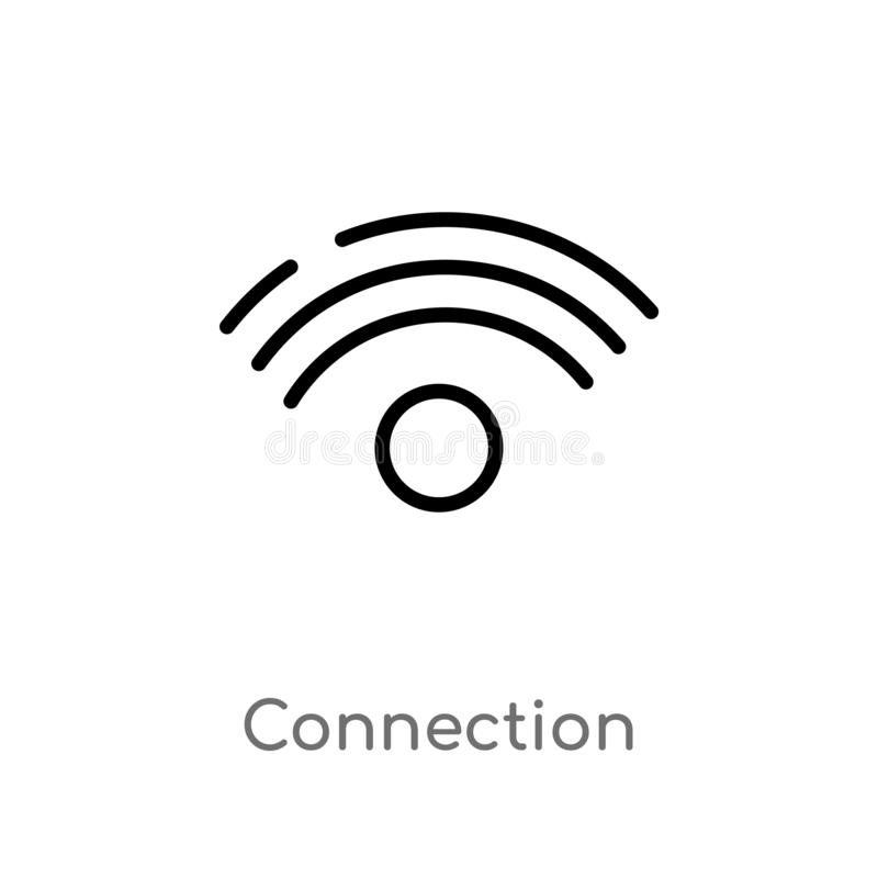 Outline connection vector icon. isolated black simple line element illustration from user interface concept. editable vector. Stroke connection icon on white vector illustration