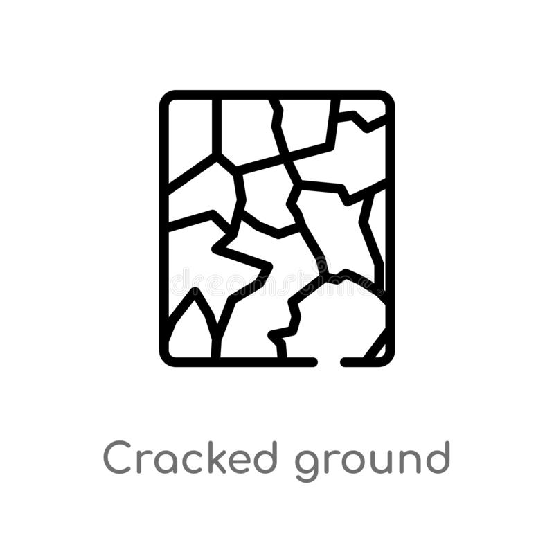 outline cracked ground vector icon. isolated black simple line element illustration from meteorology concept. editable vector vector illustration
