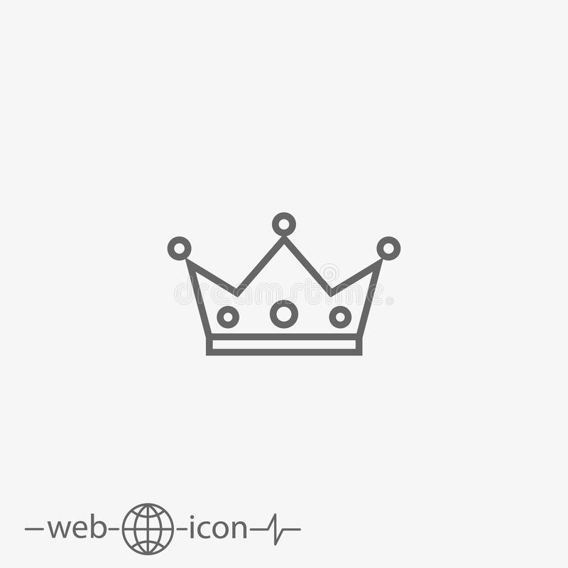 Outline crown vector icon vector illustration