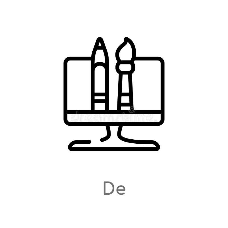 outline de vector? 被隔绝的黑简单的从搜索引擎优化概念的线元例证 编辑可能的传染媒介 皇族释放例证