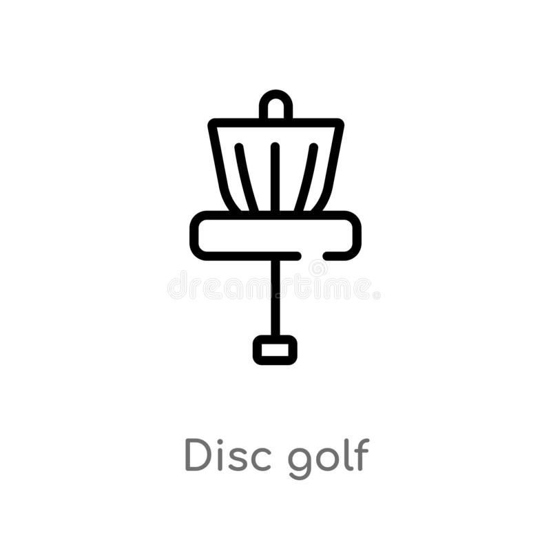 outline disc golf vector icon isolated black simple line element illustration from summer concept editable vector stroke disc stock vector illustration of recreation disc 144320577 outline disc golf vector icon isolated