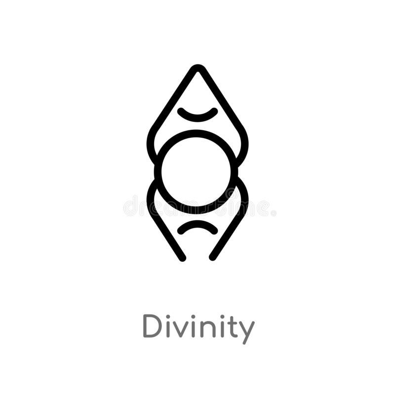 outline divinity vector icon. isolated black simple line element illustration from zodiac concept. editable vector stroke divinity vector illustration