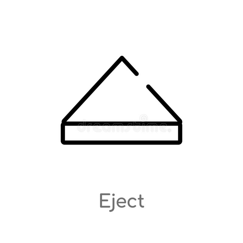 Outline eject vector icon. isolated black simple line element illustration from interface concept. editable vector stroke eject. Icon on white background vector illustration