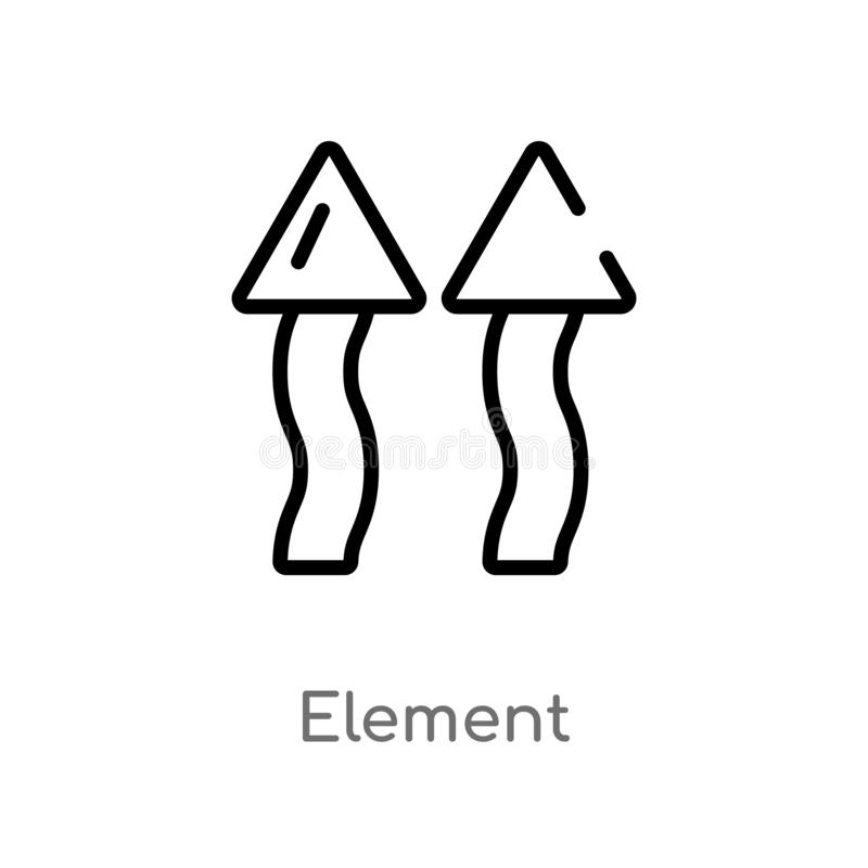 Air Nature Element Line Icon Stock Vector - Illustration of