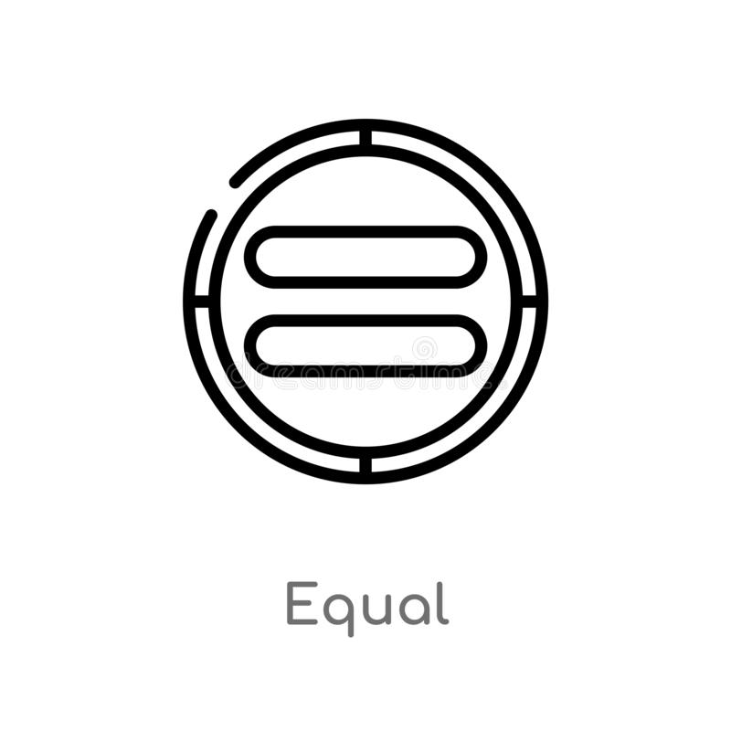outline equal vector icon. isolated black simple line element illustration from user interface concept. editable vector stroke vector illustration