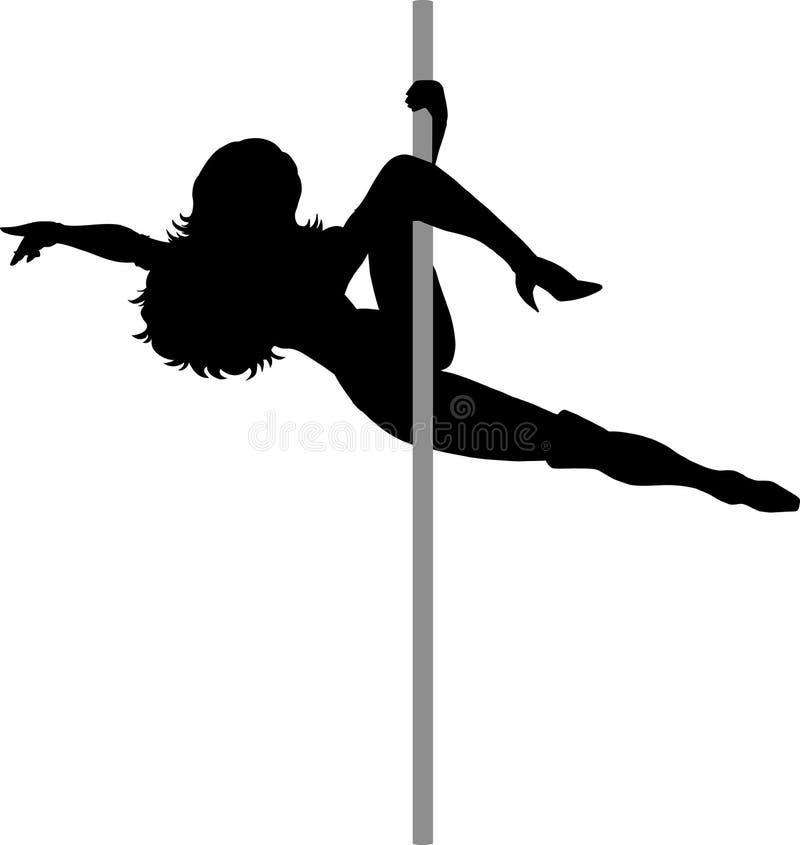 Outline of an exotic Dancer stock illustration