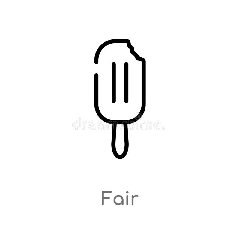 outline fair vector icon. isolated black simple line element illustration from food concept. editable vector stroke fair icon on vector illustration
