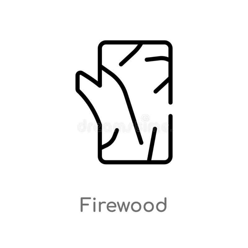 outline firewood vector icon. isolated black simple line element illustration from camping concept. editable vector stroke stock illustration