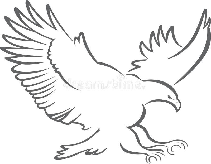 Outline Eagle Stock Illustrations – 4,003 Outline Eagle