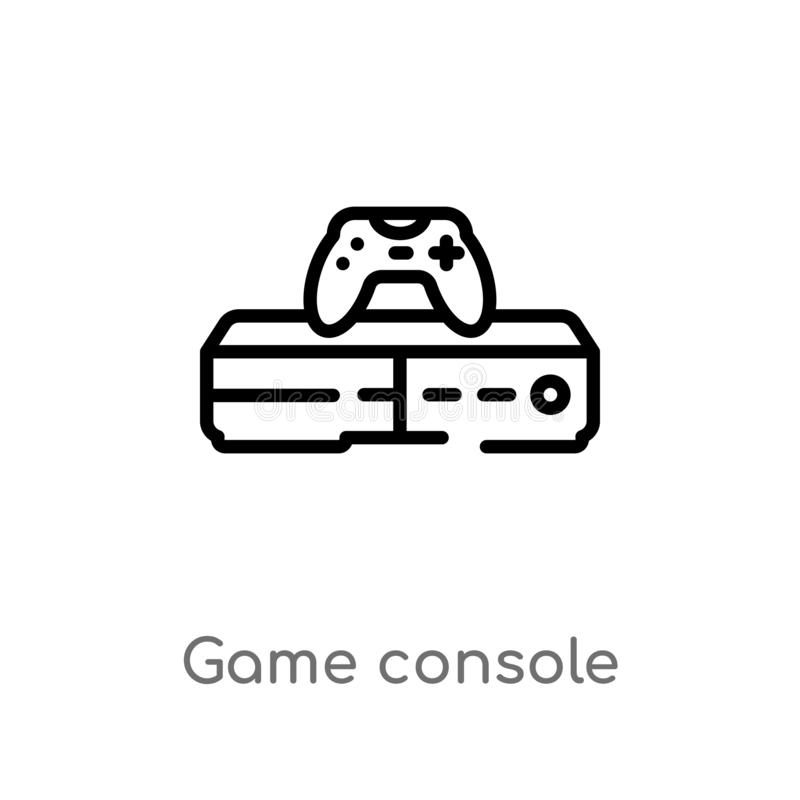 Outline game console vector icon. isolated black simple line element illustration from electronic devices concept. editable vector. Stroke game console icon on vector illustration