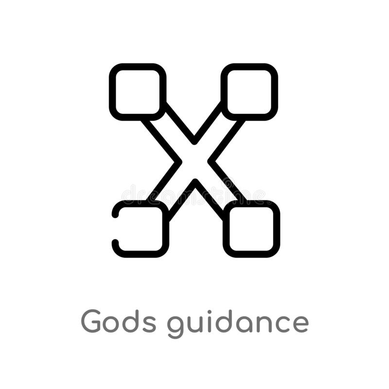 outline gods guidance vector icon. isolated black simple line element illustration from zodiac concept. editable vector stroke stock illustration