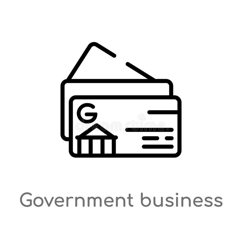 outline government business card vector icon. isolated black simple line element illustration from other concept. editable vector vector illustration