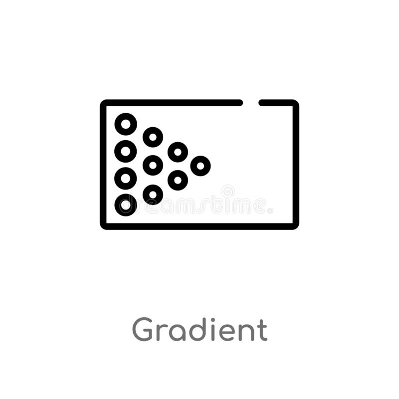 outline gradient vector icon. isolated black simple line element illustration from user interface concept. editable vector stroke vector illustration