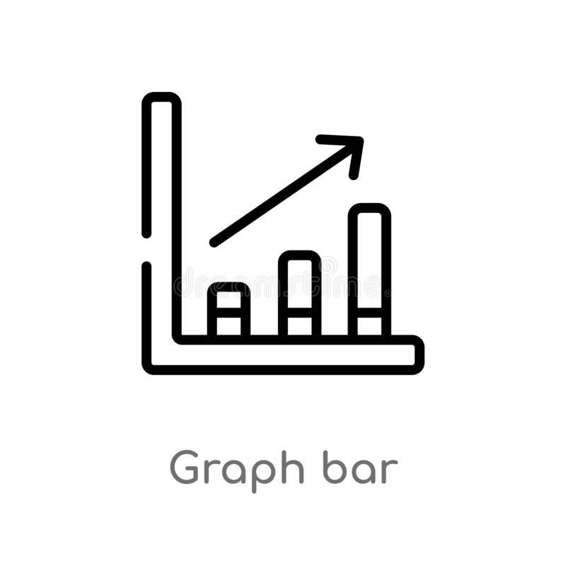 Outline graph bar vector icon. isolated black simple line element illustration from hockey concept. editable vector stroke graph. Bar icon on white background stock illustration