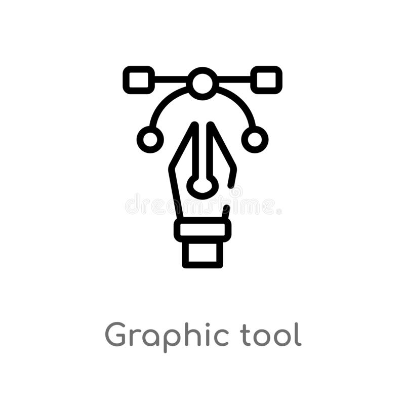 outline graphic tool vector icon. isolated black simple line element illustration from creative pocess concept. editable vector royalty free illustration