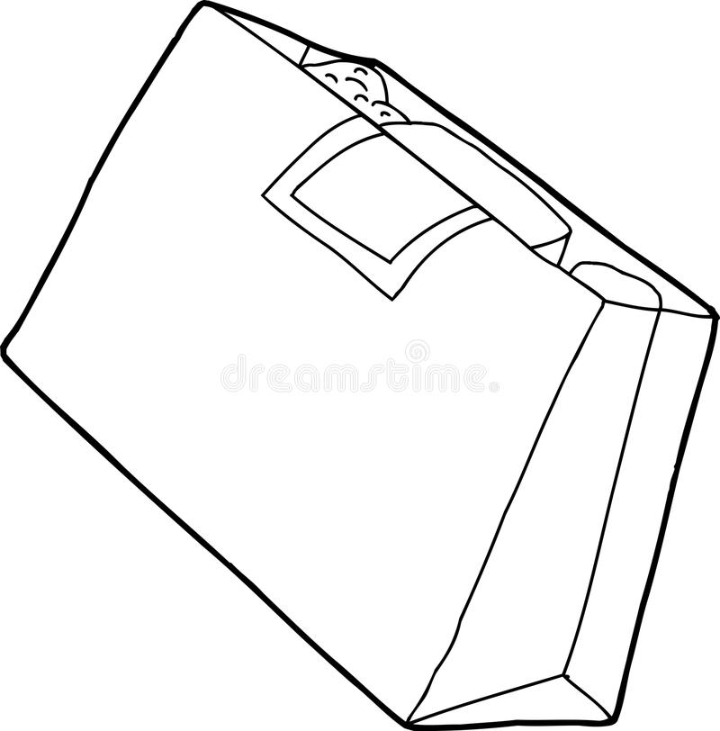 Outline Grocery Bag Stock Vector - Image: 47627943