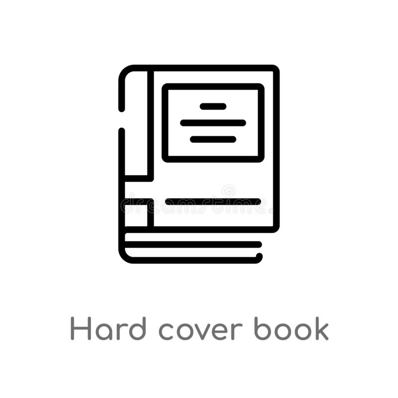 Outline hard cover book vector icon. isolated black simple line element illustration from education concept. editable vector. Stroke hard cover book icon on vector illustration