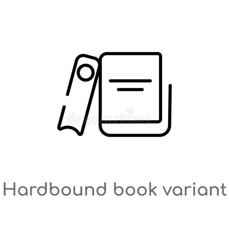 Outline hardbound book variant vector icon. isolated black simple line element illustration from education concept. editable. Vector stroke hardbound book stock illustration