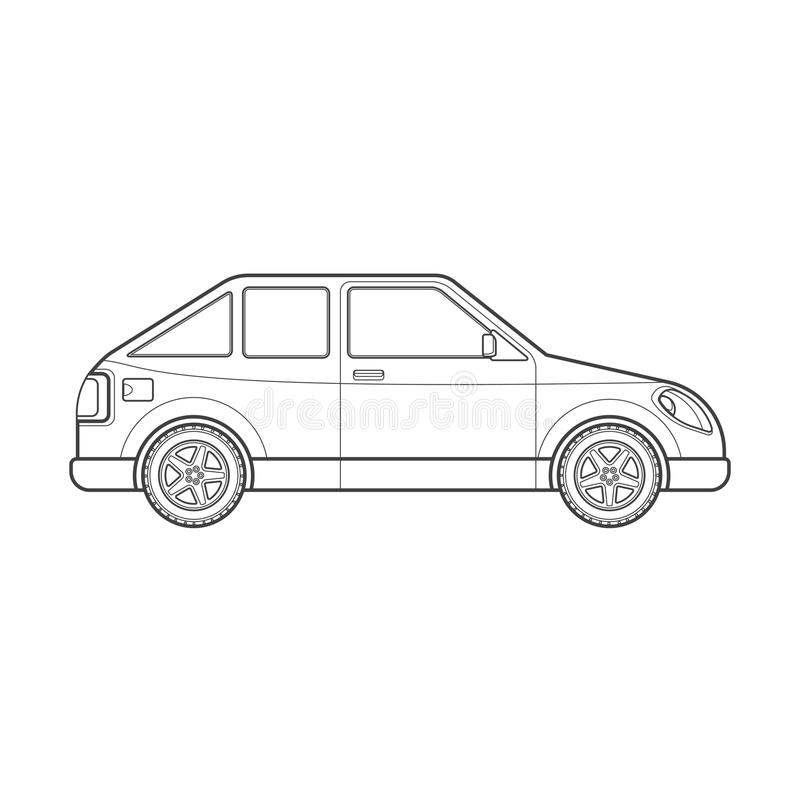 Outline Coupe Car Body Style Illustration Icon Stock